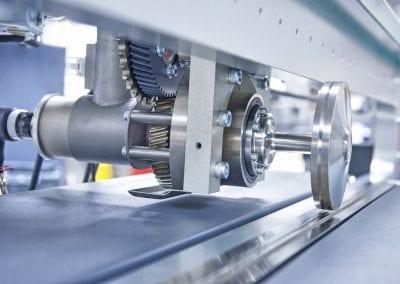 closeup industrial gears machine