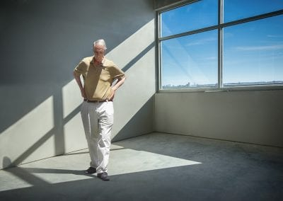 Conceptual Hopper pensive man shadows