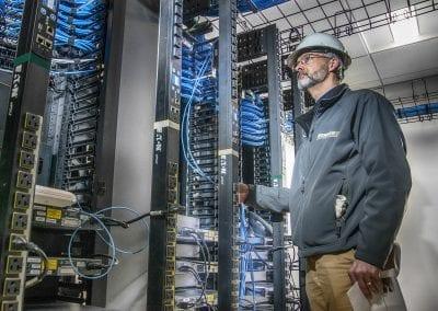 electrical engineer testing industrial