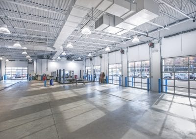 commercial automotive garage interior