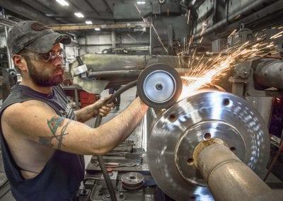 grinding steel industrial sparks