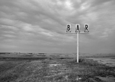 desert bar conceptual lonely sign