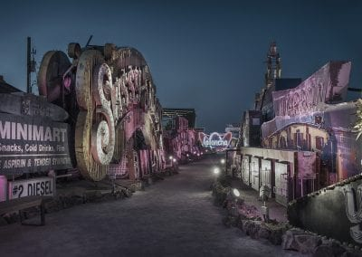 neon boneyard night conceptual