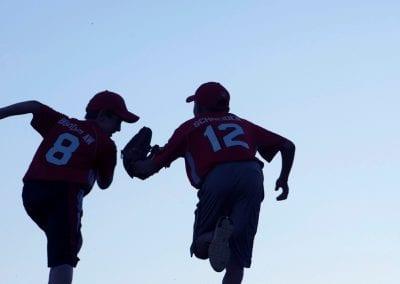 silhouette conceptual baseball tag