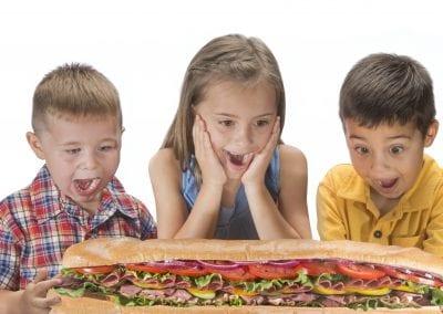 food sub bakery kids excitement