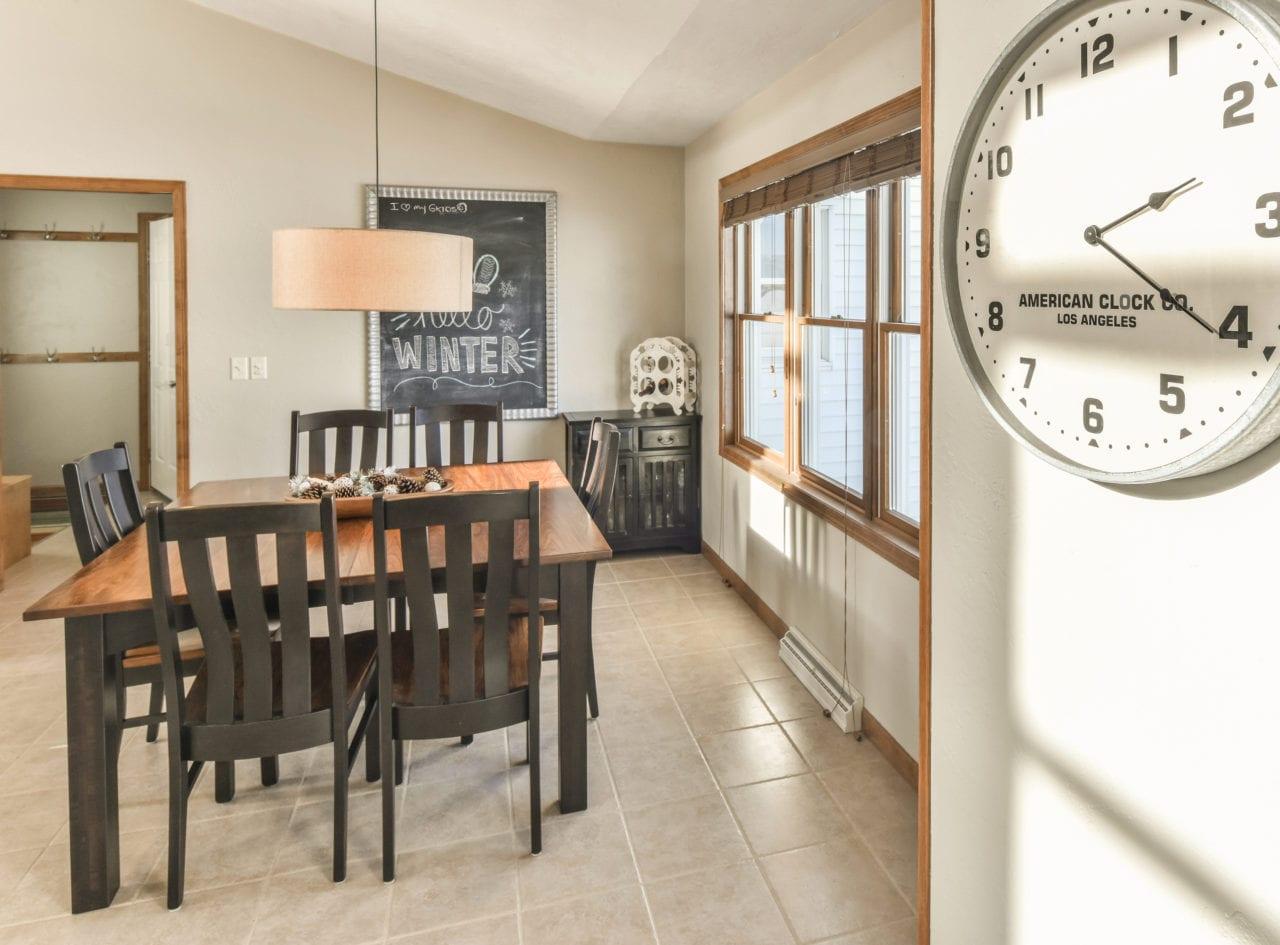 winter light on wall clock