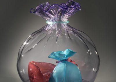 art glass clear bag
