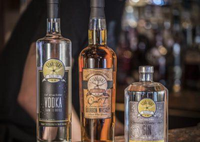 designer liquor on the bar