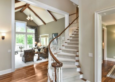 residential staircase in home for sale